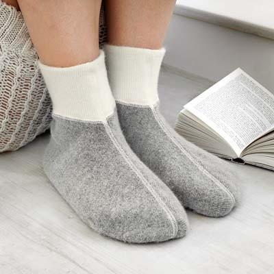 Angora voetenwarmers